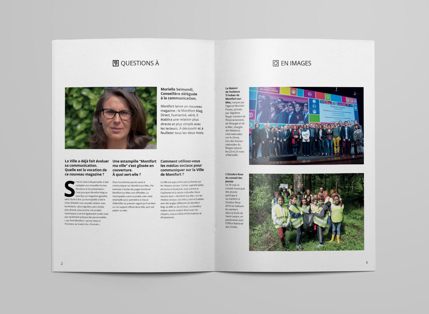 Les deux dernières sections du magazine de la ville de montfort-sur-meu, avec images.