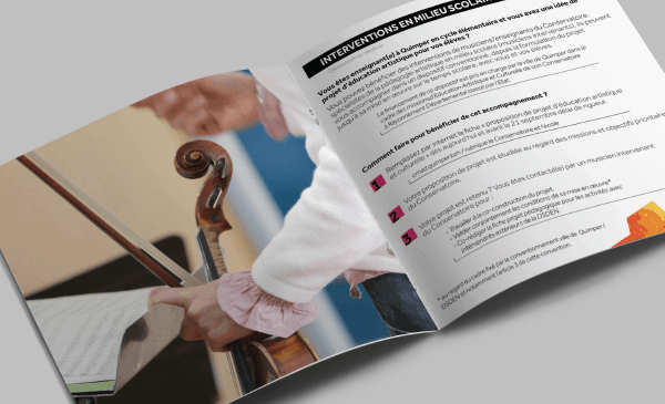Conception d'une brochure pour CMAD, saison 2016-2017