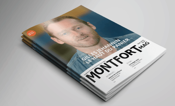 Création et exécution graphique du magazine de la ville de Montfort-sur-meu