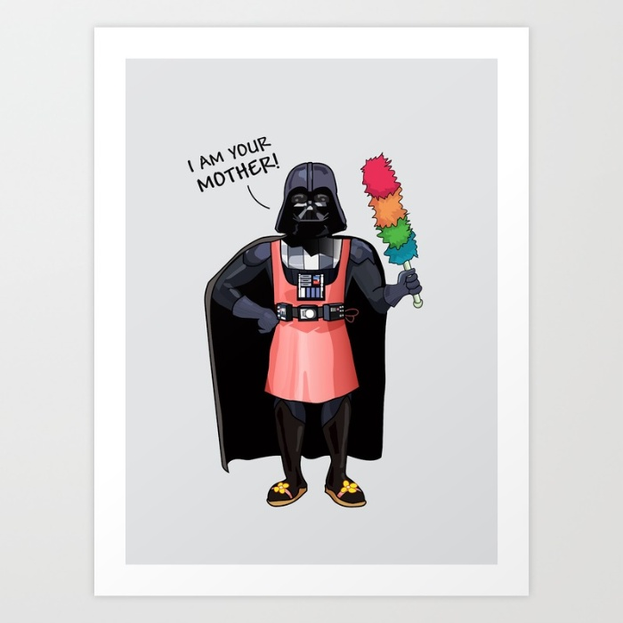 Darth Vader I am your mother funny illustration