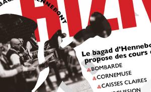 Affiche design pour Hiziv, le bagad breton