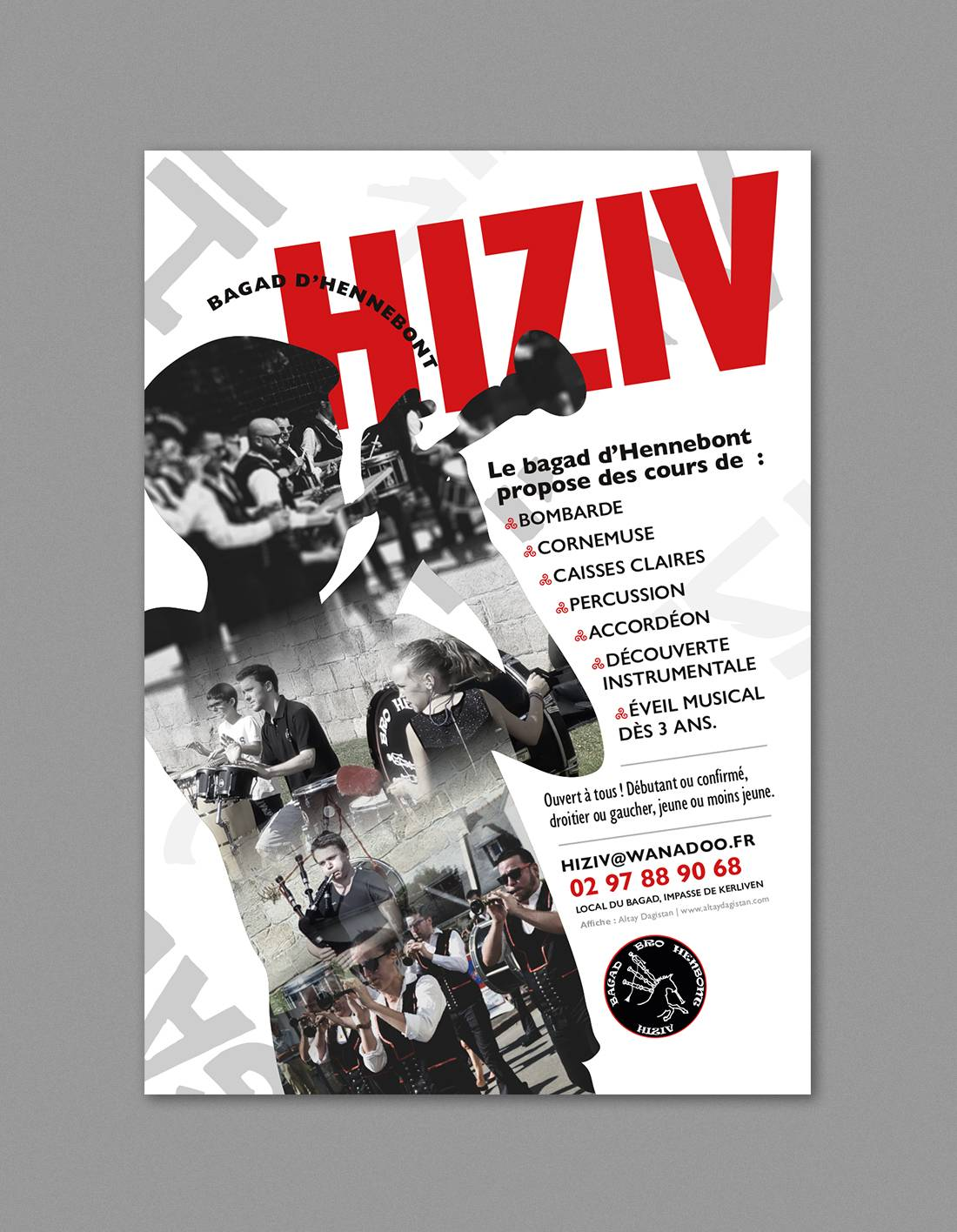 affiche design hiziv bagad breton