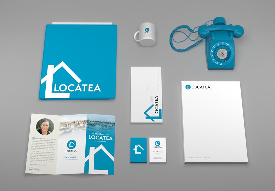 Le design d'identité visuelle de Locatea