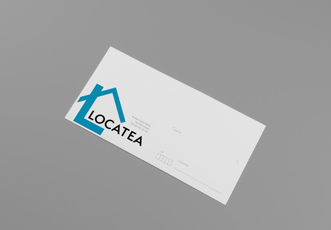 Le logo de Locatea sur un envelope
