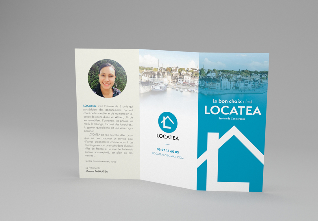 Le design de brochure de Locatea