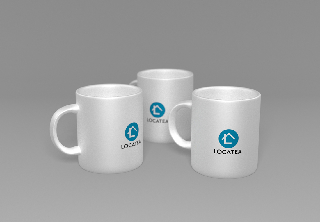 Logo de Locatea sur les tasses