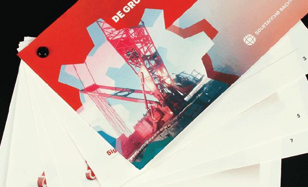 Brochure créée pour une entreprise de construction française