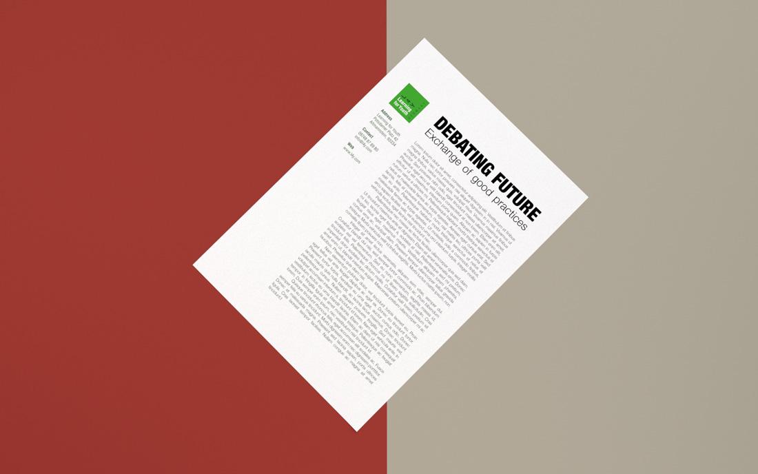 Design d'un papier-en-tête