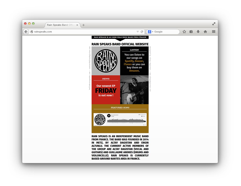 Site web design d'un group de musique