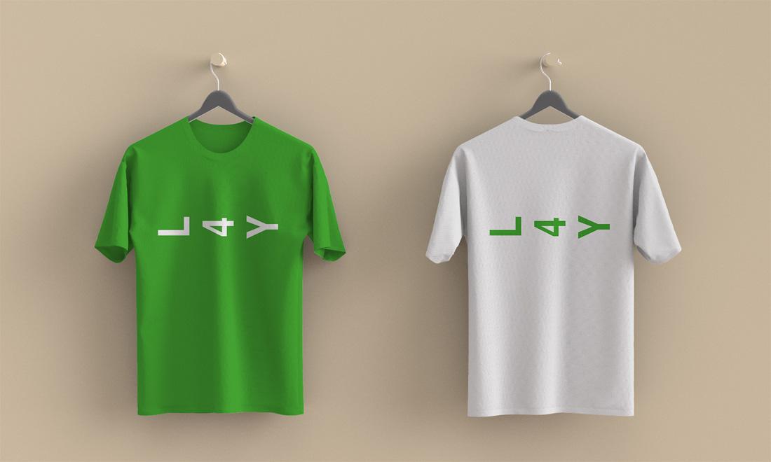 Design de logo sur le t-shirt