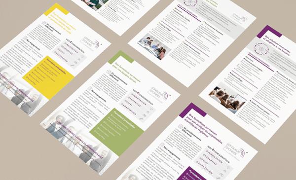 Conception et réalisation d'un flyer pour un client de Paris