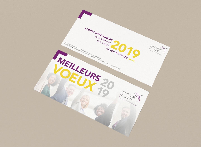 Design d'une carte de voeux pour un client de Paris