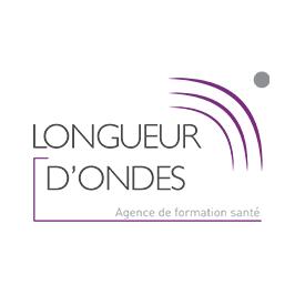 Logo de longueur d'ondes en couleur