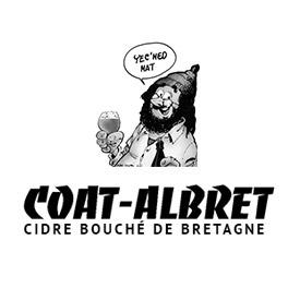 Logo d'un cidrerie de Bretagne, en noir et blanc