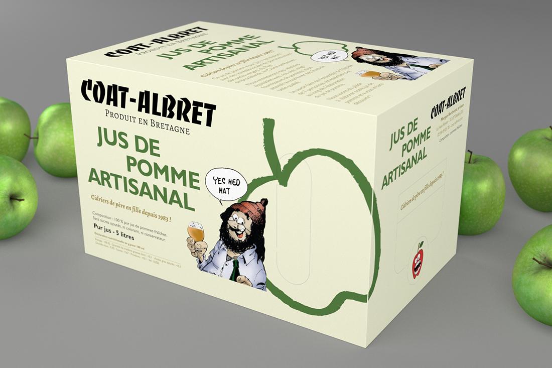 Création de packaging pour un jus de pomme artisanal