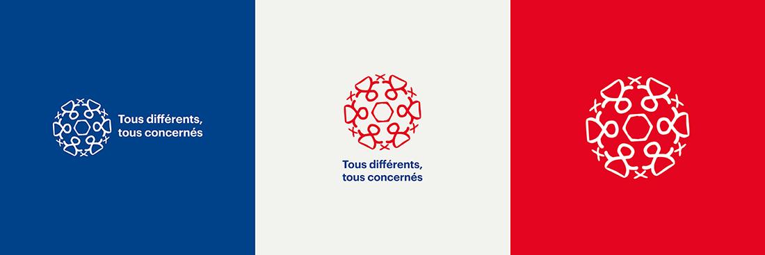 Logo en couleurs différents