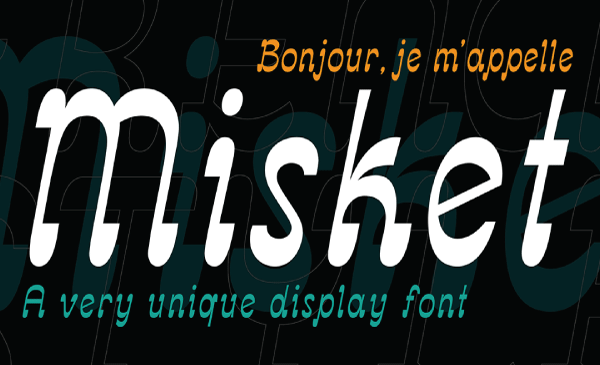 Thumbnail of the Misket font created by Altay Dagistan