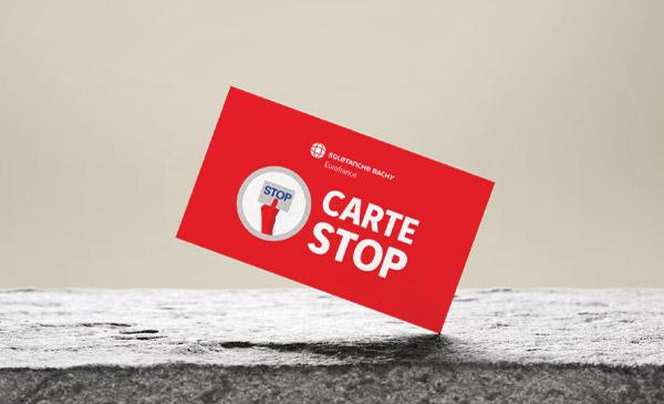 Design d'une carte stop