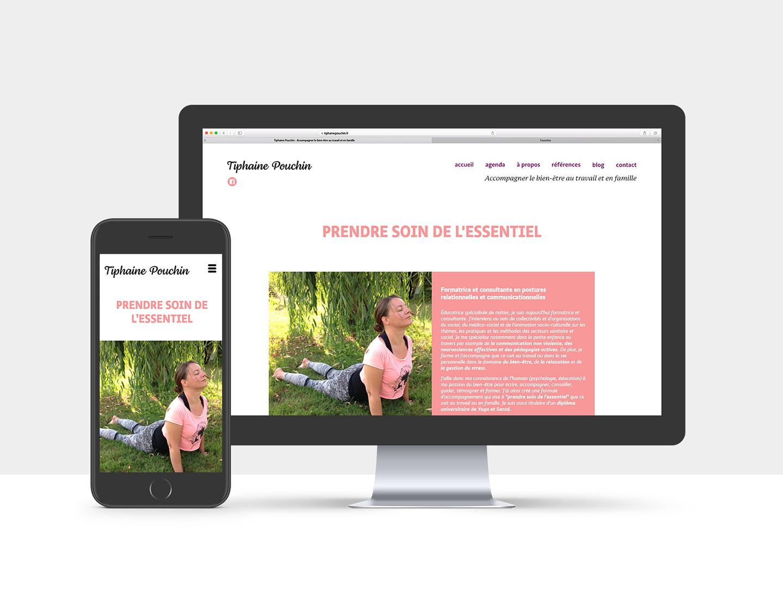 Web design pour une prof de Yoga