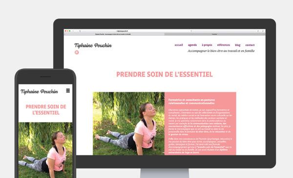 Web Design responsive pour une prof de Yoga