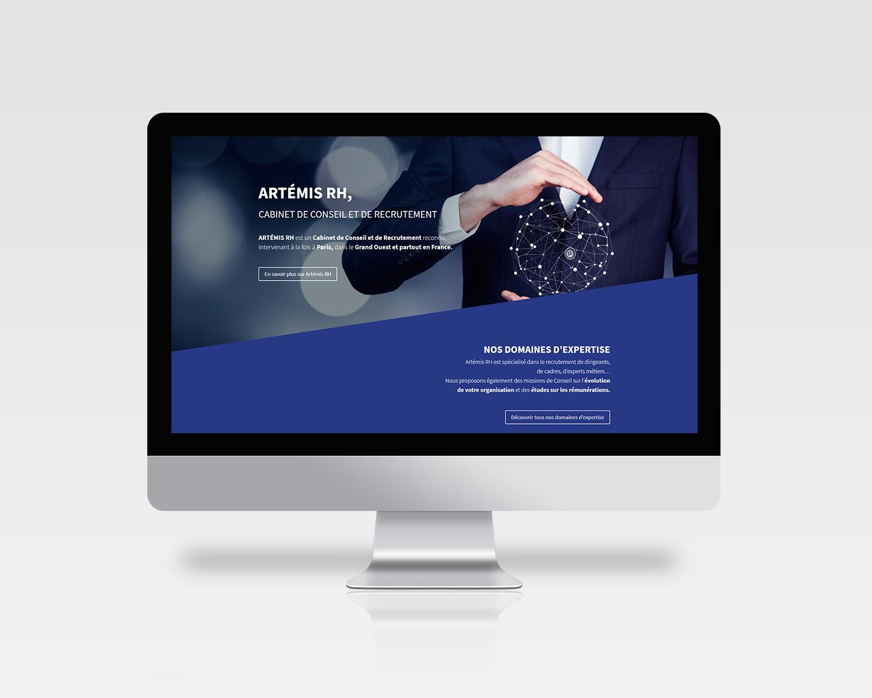 Site web sur un écran