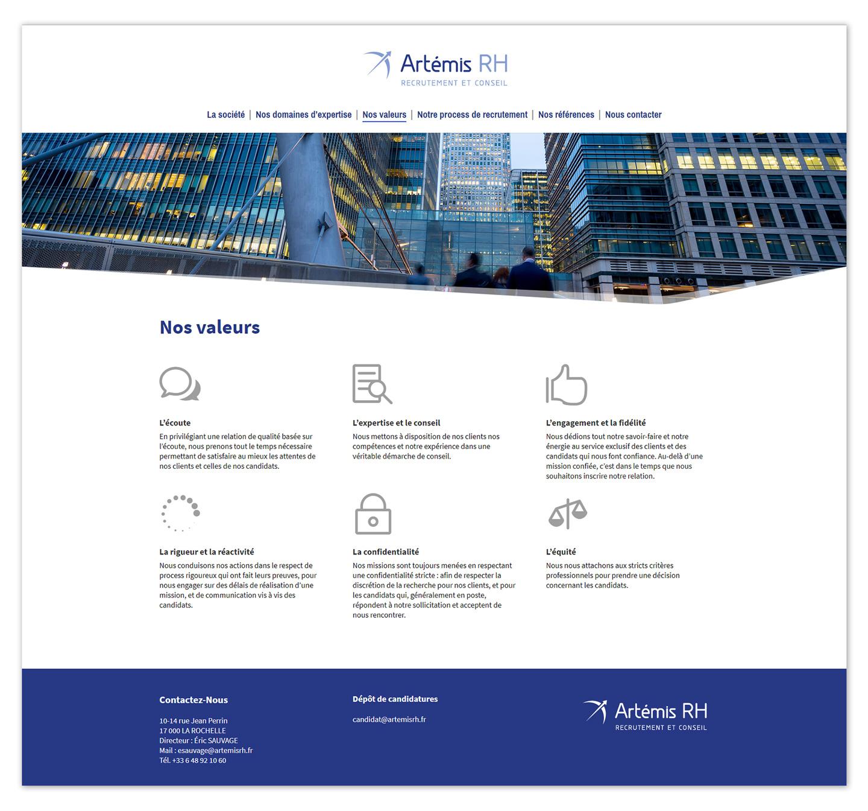 Page d'un site web