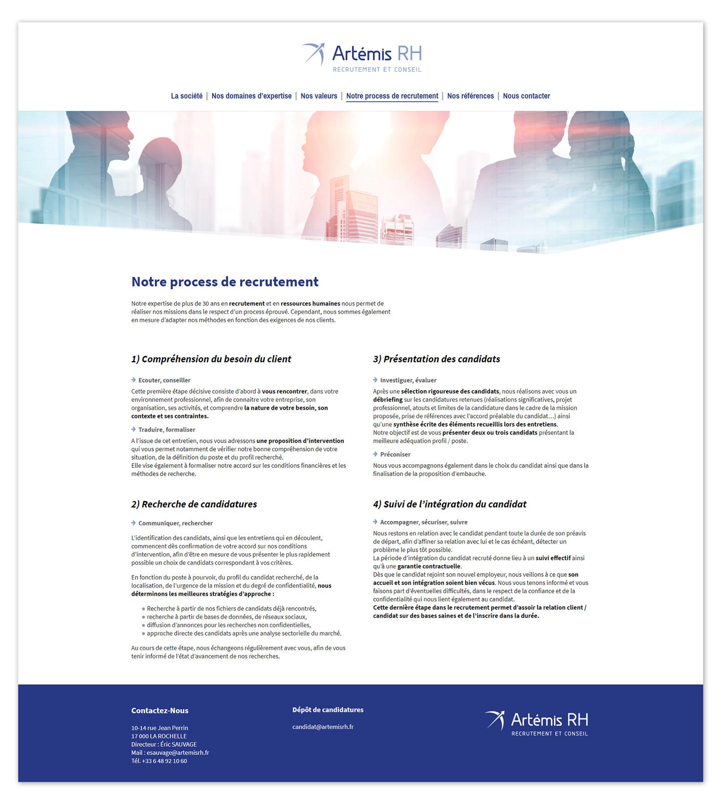 Création d'un site web pour un cabinet de conseil et de recrutement