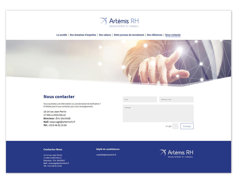 Page de contact d'un site web