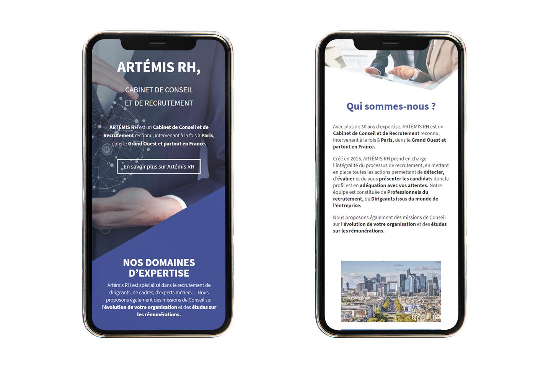 Création de site web responsive pour Artemis RH