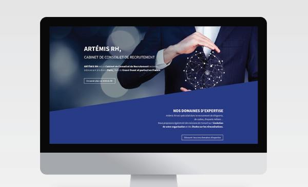 Web design pour un cabinet de conseil et recrutement
