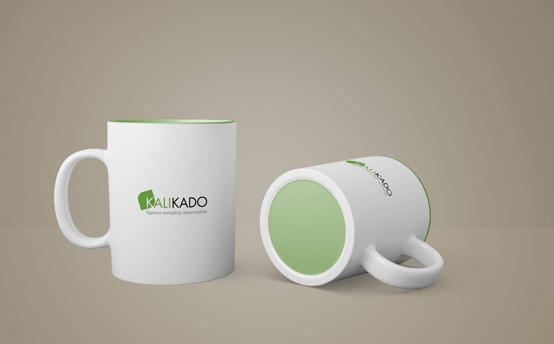 Logo imprimé sur les tasses