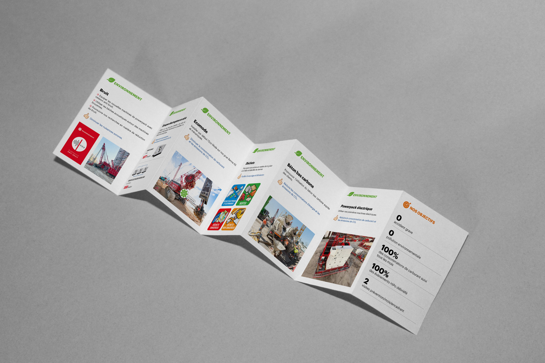 brochure design 7 plis verso