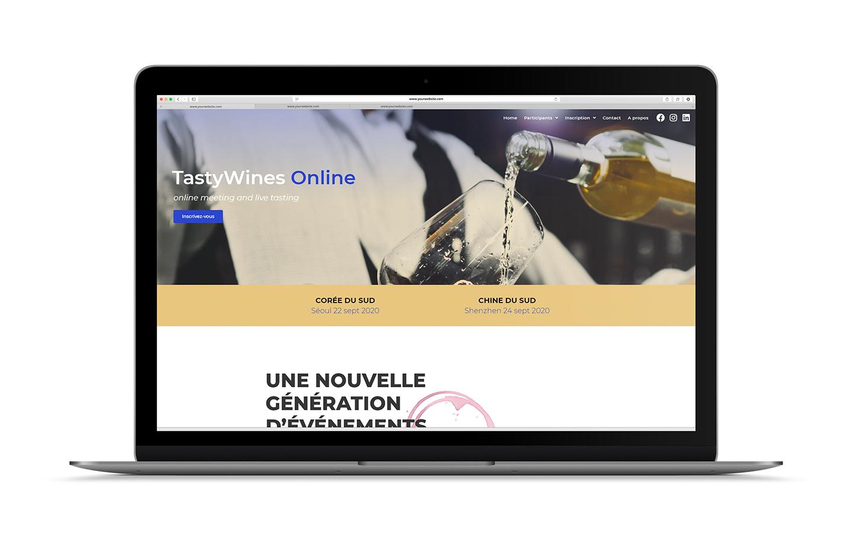 TasyWInes Online web design page d'accueil