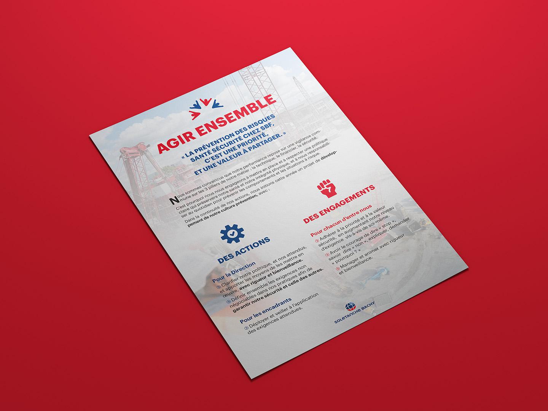 flyer design agir ensemble