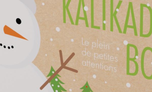 Kalikado box noël 2021. Création graphique pour un emballage - box noël.