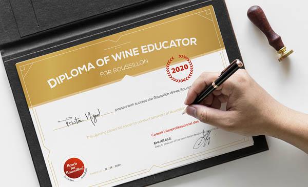 design graphique - réalisation d'un diplôme/certificat
