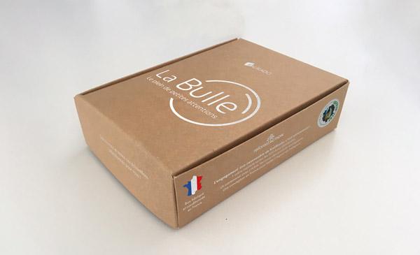 bulle bio packaging (emballage) design crée par le graphiste Altay Dagistan.