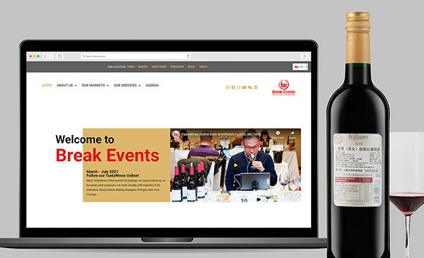 Création de site web pour Break Events Group.